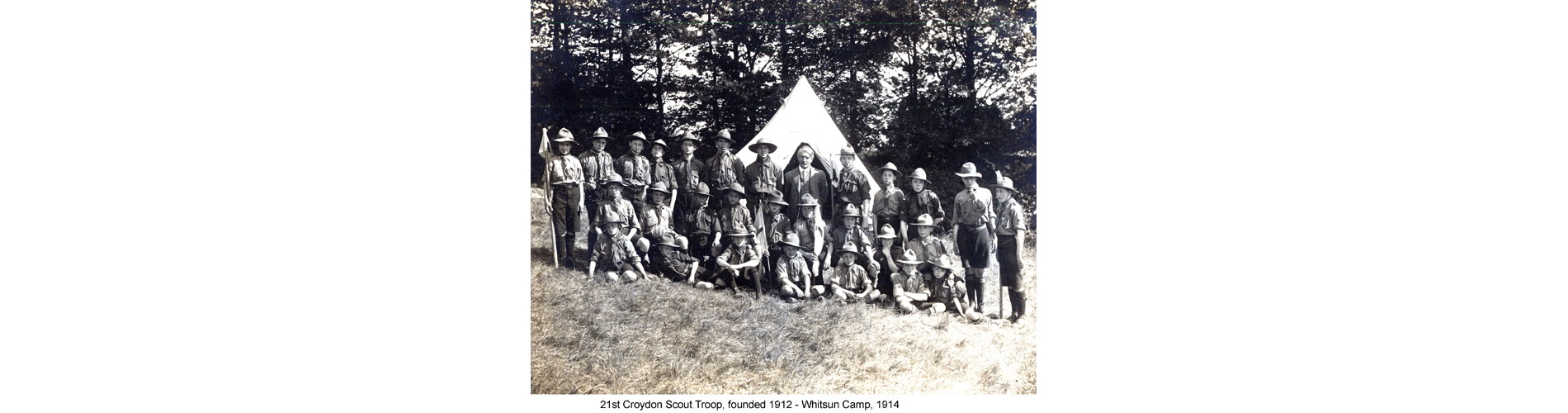 21st Croydon Scout Troop, founded 1912 - Whitsun Camp, 1914